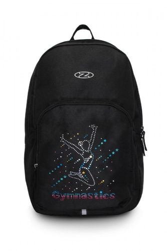 THE ZONE Gymnastics Backpack Gym Kit Bag Black with Rainbow Hologram Design